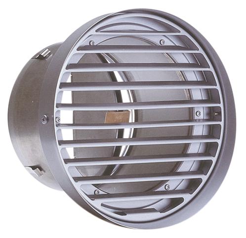 西邦工業 SEIHO SVD250SC 外壁用ステンレス製換気口 (フラットグリル) 内向ガラリ型 水切り付 防火ダンパー付