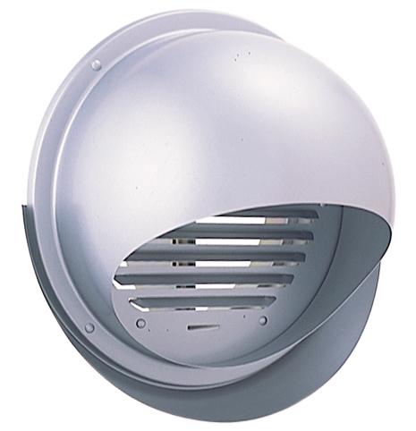 西邦工業 SEIHO SFXD200MS 外壁用ステンレス製換気口 (セルフード) 同芯ガラリ型 ワイド水切り付 防火ダンパー