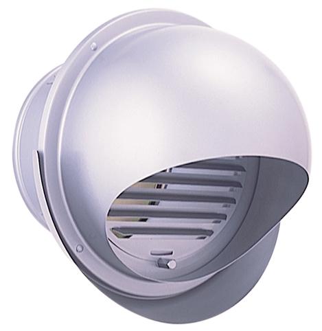 西邦工業 SEIHO SFXD175MSC 外壁用ステンレス製換気口 (セルフード) 同芯ガラリ型 ワイド水切り付 防火ダンパー