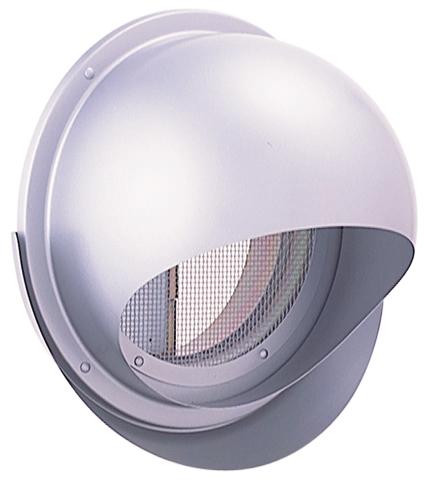 西邦工業 SEIHO SFND200MS 外壁用ステンレス製換気口 (セルフード) 同芯金網型10メッシュ ワイド水切り付 防火ダンパー付