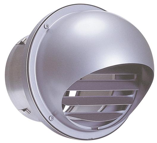 西邦工業 SEIHO AFZD200SC 外壁用ステンレス製換気口 (セルフード) 同芯ガラリ型 防火ダンパー付