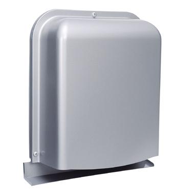西邦工業 SEIHO GFXD125GSC 外壁用ステンレス製換気口 (深型フード ワイド水切り付) 薄型 ガラリ型 下部開閉タイプ 防火ダンパー付