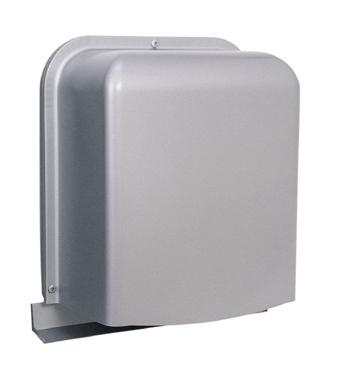 西邦工業 SEIHO GFXK125S-VM 外壁用ステンレス製換気口 (深型フード ワイド水切り付) 厚型 ガラリ型 下部開閉タイプ