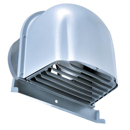 西邦工業 SEIHO CFXD200MSC 外壁用ステンレス製換気口 (深型フード) ガラリ型 下部開閉タイプ ワイド水切りタイプ 防火ダンパー付