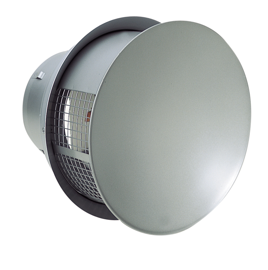 西邦工業 SEIHO RTD200SC 外壁用ステンレス製換気口 (パラボラ型) 金網型3メッシュ 耐外風 防火ダンパー付