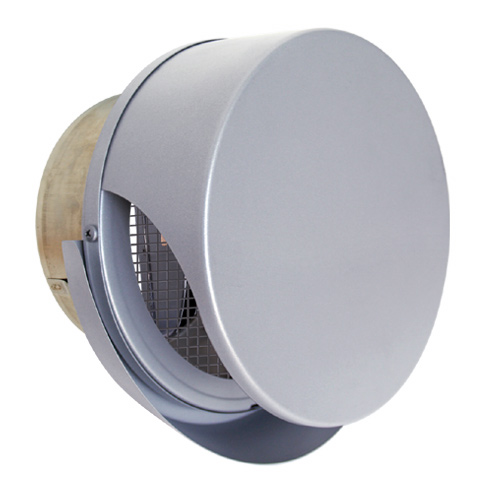 西邦工業 SEIHO SNUD200RMSC 外壁用ステンレス製換気口 (薄型フラットフード) 金網方3メッシュ ワイド水切り付 薄型フード 防火ダンパー付