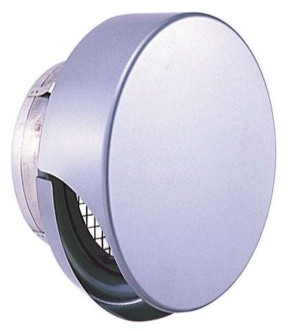 西邦工業 SEIHO SNU100MS 外壁用ステンレス製換気口 (薄型フラットフード) 金網型3メッシュ 薄型フード ワイド水切り付