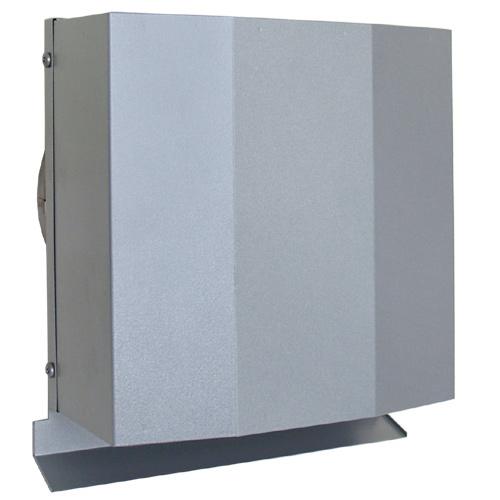 西邦工業 SEIHO FFND200SC 外壁用ステンレス製換気口 (パイプフード) 金網型3メッシュ ワイド水切り付 防火ダンパー付(厚型・金網)