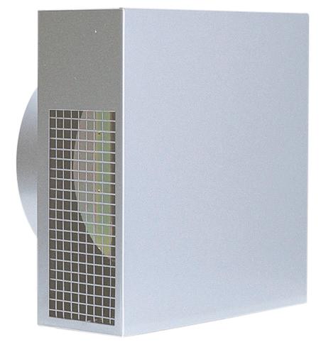 西邦工業 SEIHO KKND125S 外壁用ステンレス製換気口 (パイプフード) 金網型4メッシュ 低圧損 防火ダンパー付