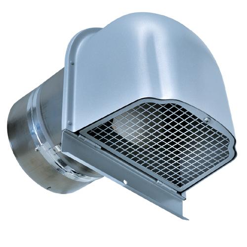 西邦工業 SEIHO CFNDC150SC 外壁用ステンレス製換気口 (逆風防止・ダンパー付) 深型フード・金網型3メッシュ 下部開閉タイプ CD・FD付