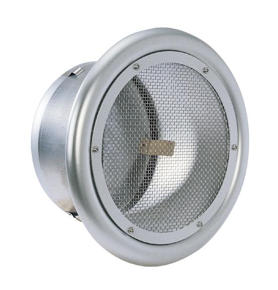 西邦工業 SEIHO SND250C 外壁用アルミ製換気口 (フラットグリル) 金網型10メッシュ 防火ダンパー付