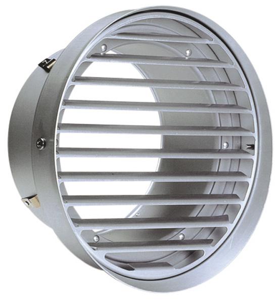 西邦工業 SEIHO SV225T 外壁用アルミ製換気口 (フラットグリル(ワイド水切り付)) 内向ガラリ型 水切り付 低圧損