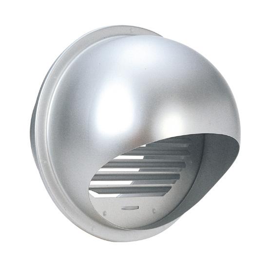 西邦工業 SEIHO SFX250 外壁用アルミ製換気口 (セルフード) 同芯ガラリ型