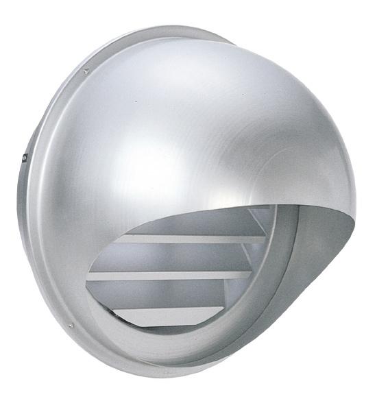 西邦工業 SEIHO SFL250 外壁用アルミ製換気口 (セルフード) 同芯内ガラリ型 大口径