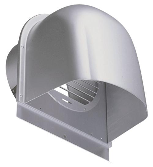 西邦工業 SEIHO CFX200A 外壁用アルミ製換気口 (深型フード) ガラリ型 下部開放タイプ