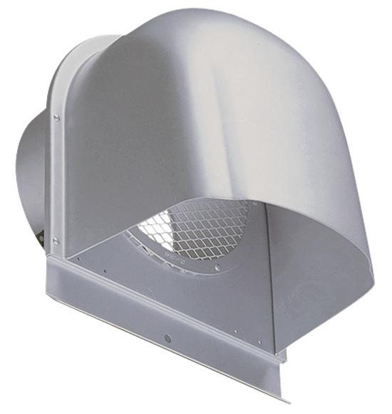 西邦工業 SEIHO CFN250A 外壁用アルミ製換気口 (深型フード) 金網型7×14ラス網 下部開放タイプ
