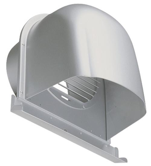 西邦工業 SEIHO CFX225AM 外壁用アルミ製換気口 (深型フード(ワイド水切り付)) ガラリ型 下部開放タイプ ワイド水切り付