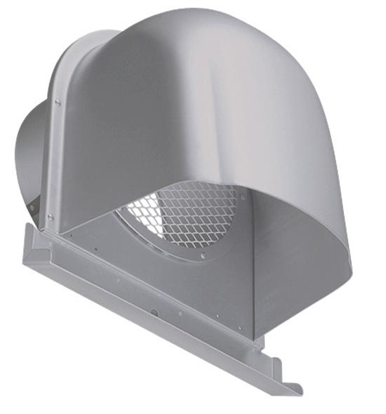 西邦工業 SEIHO CFN250AM 外壁用アルミ製換気口 (深型フード(ワイド水切り付)) 金網型 7×14ラス網 下部開放タイプ ワイド水切り付
