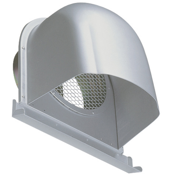 西邦工業 SEIHO CFND200AM 外壁用アルミ製換気口 (深型フード(ワイド水切り付)) 金網型 7×14ラス網 下部開放タイプ ワイド水切り付 防火ダンパー付