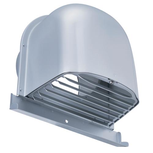 西邦工業 SEIHO CFX300M 外壁用アルミ製換気口 (深型フード(ワイド水切り付)) ガラリ型 下部開閉タイプ ワイド水切り付