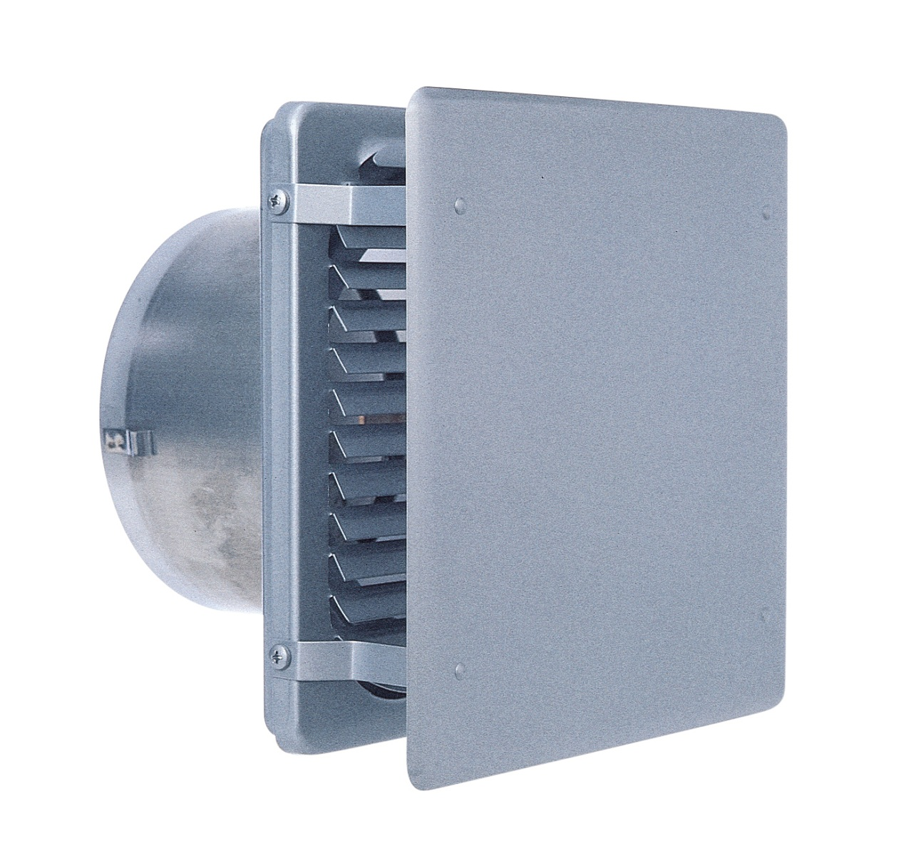 西邦工業 SEIHO KXBD175SC 外壁用ステンレス製換気口 (フラットカバー付換気口) 角ガラリ型 フラットカバー付 防火ダンパー付