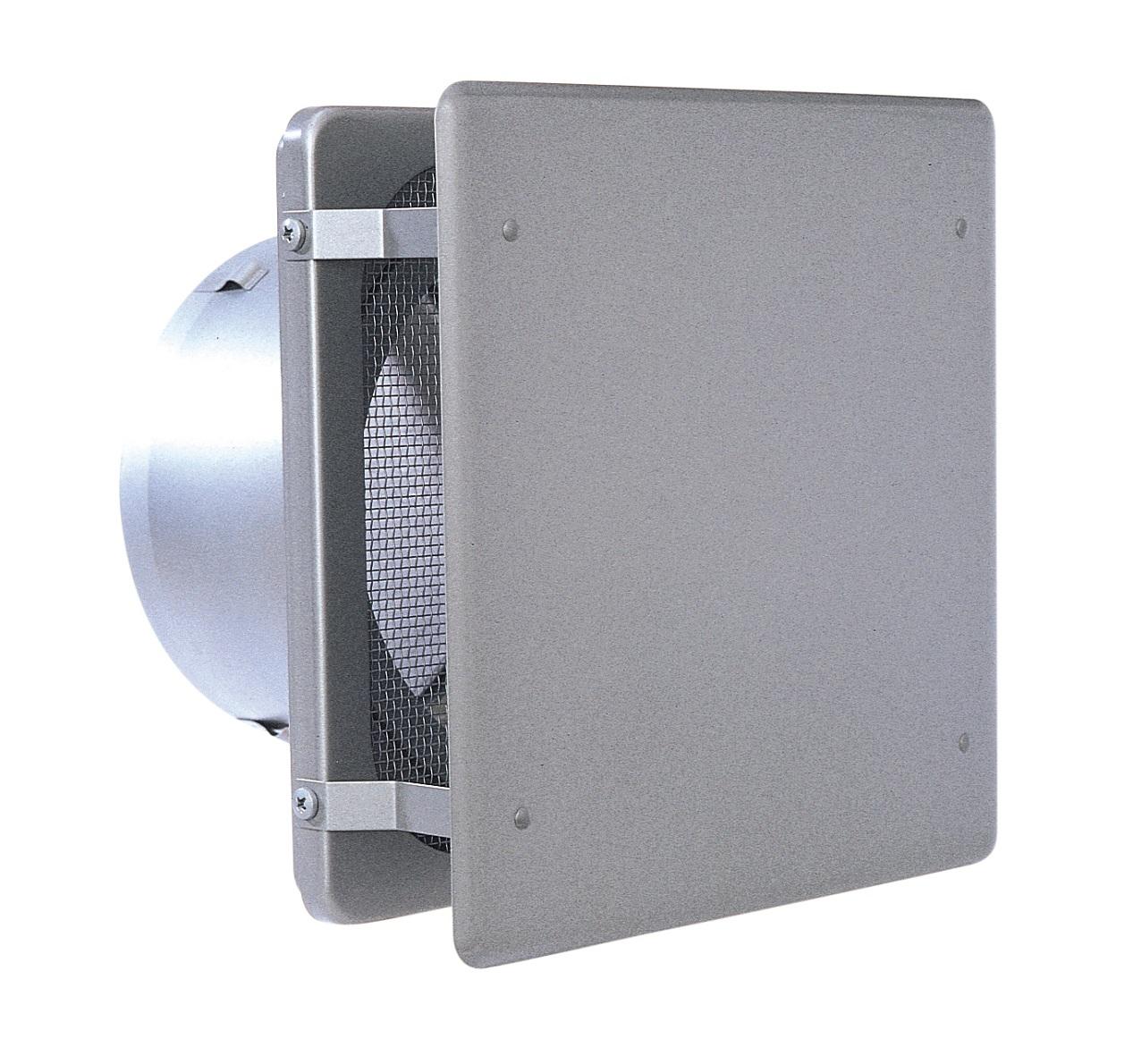 西邦工業 SEIHO KNBD150SC 外壁用ステンレス製換気口 (フラットカバー付換気口) 角金網型10メッシュ フラットカバー付 防火ダンパー付