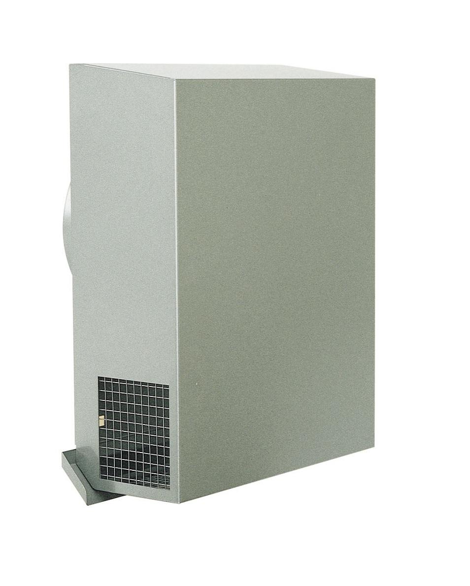 西邦工業 SEIHO KKND150YMSC 外壁用ステンレス製換気口 (パイプフード) 金網型3メッシュ ワイド水切付 防火ダンパー付