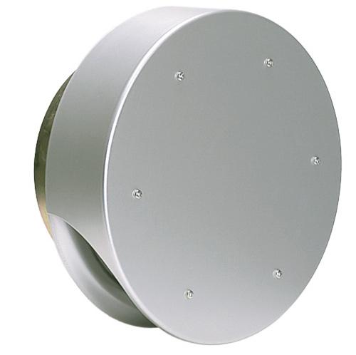 西邦工業 SEIHO SXUD200 外壁用アルミ製換気口 (薄型フラットフード) 薄型フード ガラリ型 防火ダンパー付