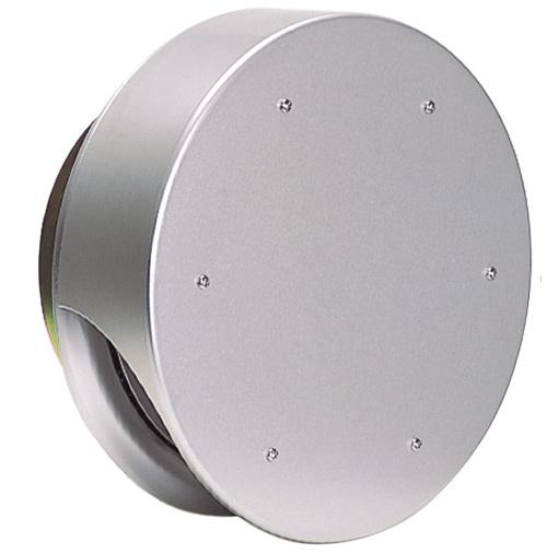 西邦工業 SEIHO SNUD200 外壁用アルミ製換気口 (薄型フラットフード) 薄型フード 金網型3メッシュ 防火ダンパー付