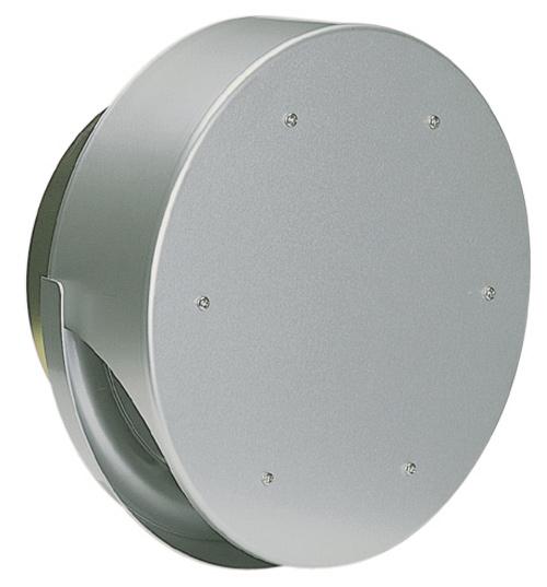 西邦工業 SEIHO SXUD200M 外壁用アルミ製換気口 (薄型フラットフード(水切り付)) 水切り付薄型フード ガラリ型 防火ダンパー付