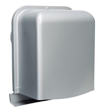西邦工業 SEIHO GFXD125ABSC 防音型製品(ステンレス製換気口(ワイド水切り付)) 深型 薄型 内ガラリ 防音タイプ 下部開放 防火ダンパー付