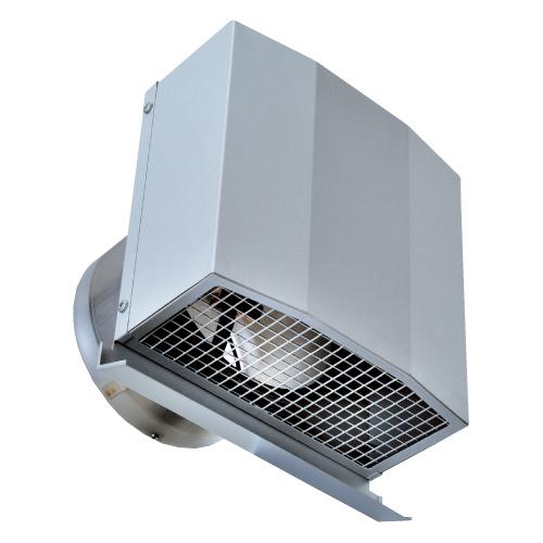 西邦工業 SEIHO FFND200BSC 防音型製品(ステンレス製換気口) 金網型3メッシュ 防音タイプ ワイド水切り付 防火ダンパー付(厚型・金網)