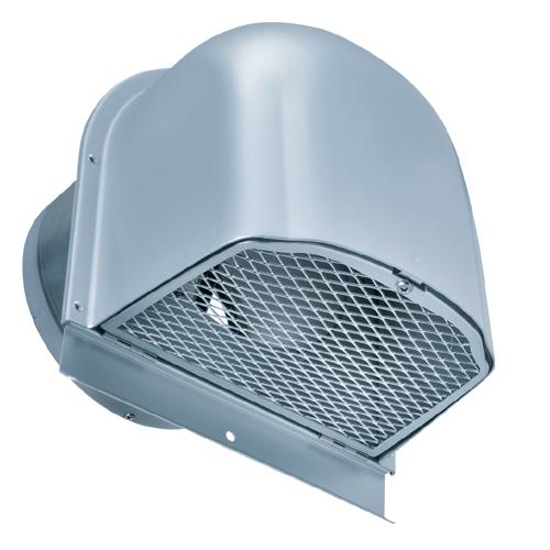 西邦工業 SEIHO CFND150CBL BL・外壁用アルミ換気口(深型フード) 金網型 7×14ラス網 下部開閉タイプ 防火ダンパー付