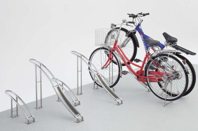 四国化成 サイクルラックS2型 CLRKS2N-H ステンレス ハイタイプ 自転車スタンド 自転車用自立スタンド