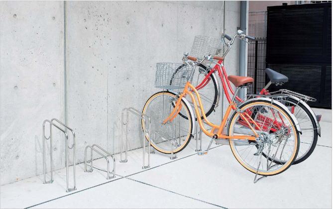「独立式」「自転車の駐車スペース整理に」「代引不可」 CLRKS4-L 四国化成 サイクルラックS4型 CLRKS4-L ステンレス ロータイプ 自転車スタンド 自転車用自立スタンド