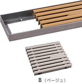 シマブン GRSS-20L600S-B セーフティグレーチング スリットタイプ 吹き出口枠(皿モミ仕様) 枠共