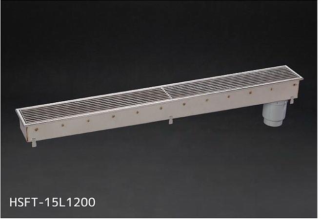 シマブン HSFT-15L1200 排水ユニット SUSグレーチング 深型 非防水縦引き 150角