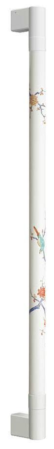 シマブン TIC-32S600-CW 陶磁器製手すり セラハンド 花鳥