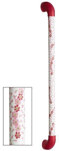 シマブン TIC-30S300-SKR 陶磁器製手すり セラハンド 紅桜
