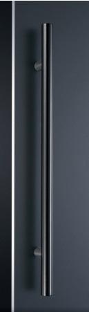 神栄ホームクリエイト GHB1218-25B-600 ドアハンドル カラー:ブラック (新協和) 内/外1セット