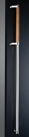 神栄ホームクリエイト FHBS2212-BR-1350L ドアハンドル カラー:鏡面/ブラウン (新協和) 内/外1セット ※
