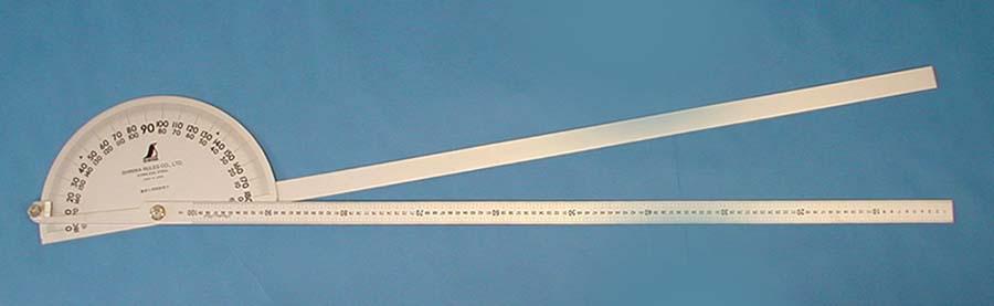 シンワ測定 62952 プロトラクター No.1000 シルバー Φ320 竿目盛1m 2本竿