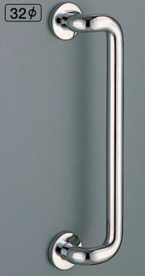 シロクマ 白熊印 室内、浴室用補助手すり I型手摺り No.806 φ32 大 L形丸棒ニギリバー
