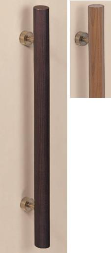 シロクマ 白熊印 ドアー取っ手 ドアハンドル No.179 両面用 天然木 L600mm 天然木丸形取手