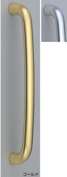 シロクマ 白熊印 ドアー取っ手 ドアハンドル No.218 両面用 L300mm ゴールド アルミユビキタス取手