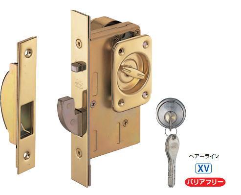シロクマ 白熊印 引戸錠 ゴール GOAL 玄関錠 XC SX-V18 バックセット51mm ヘアーライン