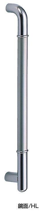 シロクマ 白熊印 ドアー取っ手 ドアハンドル No.170 両面用 L630mm ステンF形丸棒取手 φ32mm
