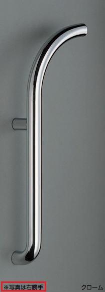シロクマ 白熊印 ドアー取っ手 ドアハンドル No.109L/R 両面用 L550mm ドーナツ取手 φ32mm