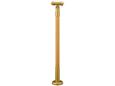 マツ六 室内用手すりコーナー支柱 木製 アジャスト付 BDE-37GC クリア+ゴールド