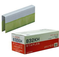 フロアー用ステープル 838KH 肩幅:内寸8mm×外寸11mm 先端特殊接着剤付 3000本×4箱入(日立・マキタフローリング用)